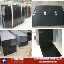 Absolute black granite floor tiles