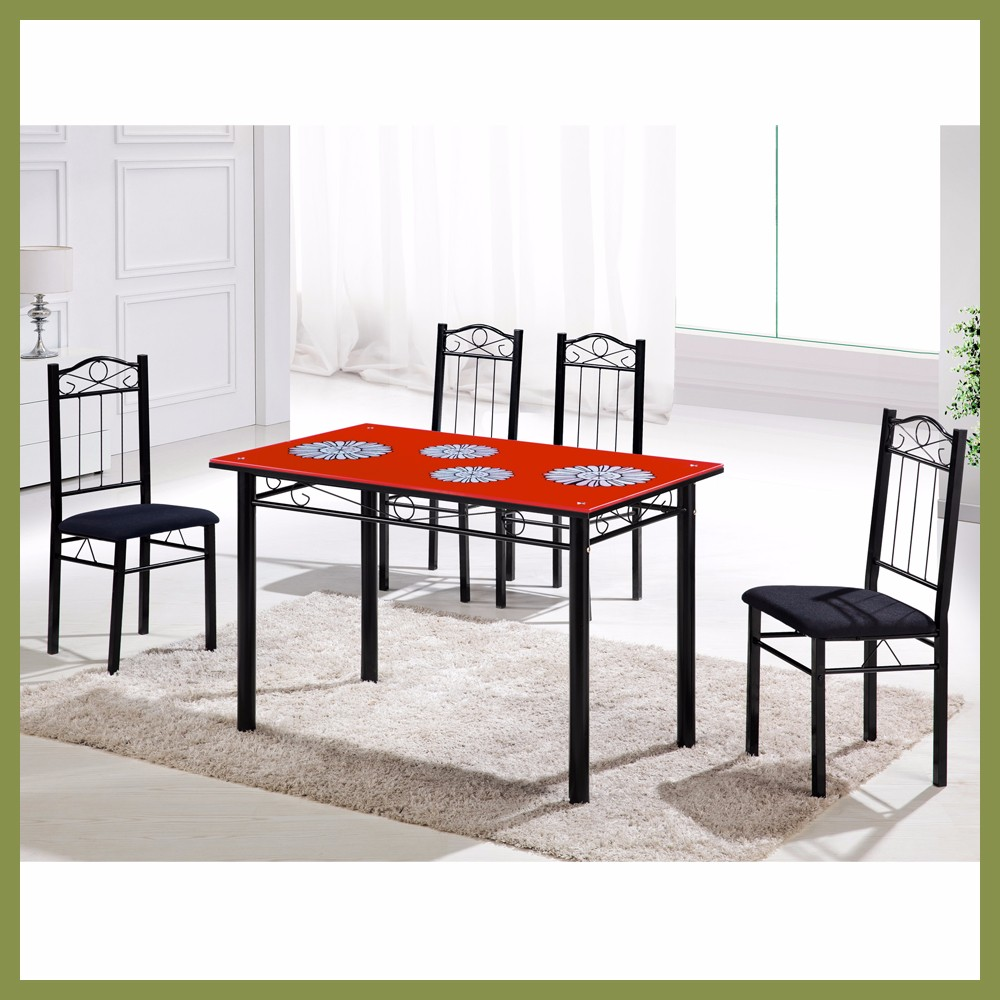Fast Delivery Modern Tempered Glass Philippine Dining Table Set
