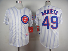 Chicago Cubs 2015 Cool Base Jake Arrieta #49 White Jersey