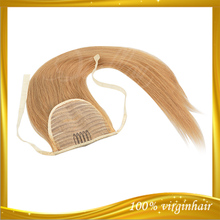 2014 Hot New product blond hair drawstring ponytail