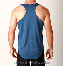 custom Y back preshrunk 100% cotton man blue gym sport vest