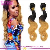 Qingdao sexy long hair girls india hair wholesale 8a grade high qulaity ombre color sexy hair