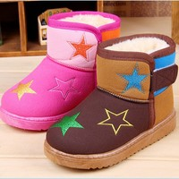D24634Q 2014 the new child fashion winter warm cotton shoes snow boots