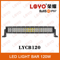 New products led bar lights IP67 waterproof 10-30V 120W curved bar