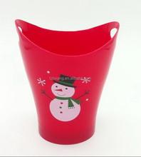 snowman design double ears plastic cup