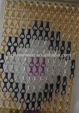 De anodização de alumínio elo da cadeia tela de voar para decoração de jardim