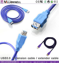 Millionwell high speed USB 3.0 extension cable , 4 ports 3.0 usb hub cable , male to female ,3M 10ft