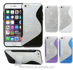 Plastic PC+TPU Mobile Phone Case For Iphone With Stand