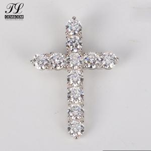 Personalizzato fornito hip moda mens oro bianco croce + fashion jewellery per i giovani