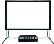 150 pulgadas pantalla de proyección fold rápido con aire caso del vuelo