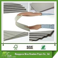 3mm cartón gris reciclado en hojas