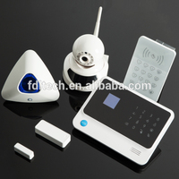 Wireless Touch Screen GSM Home Security Burglar Alarm System support IOS/Android APP