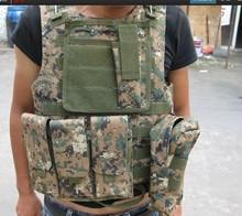 Equipo militar camuflaje chaleco táctico
