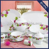 Square Shape 50pcs Porcelain Dinnerware Design K8