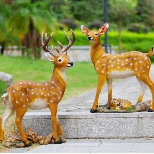 Outdoor Deer Statues Resin Outdoor Deer Statues For
