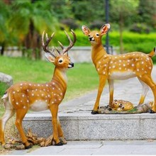 Resin outdoor deer statues for decoration