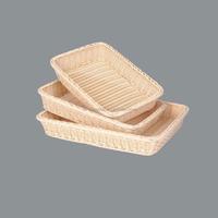 Wholesale Stylish plastic rattan storage basket for bread