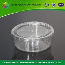 Recycling and non-toxic clear plastic round cake box