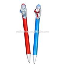 Promotional Sport Shoes Character Clip Plastic Ball Pens/Cartoon Character Clip Pens/ Customer design Cartoon Clip Pen