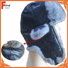 Hot Sale real rabbit fur hat trapper hat