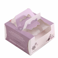 Fancy Custom food grade decorative paper cake box wholesale with pvc window