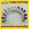 12 volt led auto light bulbs for car backup, brake, turing, warning lights 1156 1157 T20