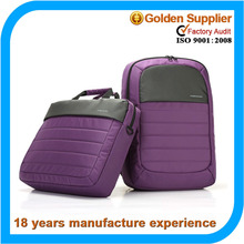 Purple nylon laptop bag eva case