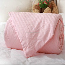 High quality satin stripe 100% silk quilt/comforter from China(Filler 1.5 kg)