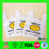 HDPE white printed plastic t shirt bag for packing