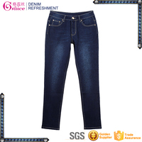 Stretch high waist plus size butt lift fancy 5 pocket jeans for girl DL423