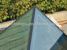 ISO CE BS certificated insulated double glazing curved tempered glass