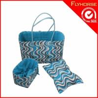 High quality cotton string shoulder shopper bag