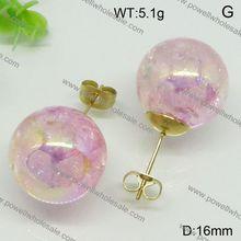 Fancy Design China Wholesale steel jewelry,heart of the ocean pendant earring