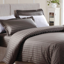 Hotel T-250 Striped King Flat Sheet 108x115/Hotel Striped Bedding Set/Hotel Striped Bed Linen