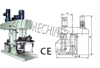 double shaft mixer for coating