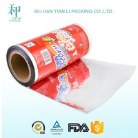 high quality customized PET/VMPET/PE food plastic packing film for popcorn