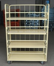 roll trolley with two universal and two directional trundles roll container