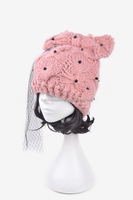 fashion girls lace cat ear beanie hat party hat