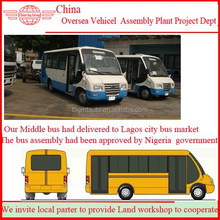 West Africa Simple Bus Assembly Plant with Spray Paint Room