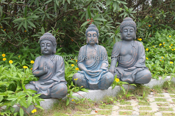 big r sine statue de bouddha avec pierre finition pour jardin d coration artisanat en r sine id. Black Bedroom Furniture Sets. Home Design Ideas