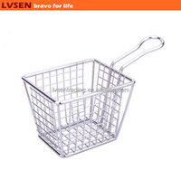 french mini square wire pasta strainer, deep frying strainer, deep fry wire basket