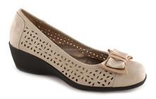Fashion Sexy Lady PU Leather Bow Pump Platform Dress High Heel Shoes ,wedge shoes