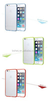 High quality transparent crystal clear hard TPU back case cover for iphone 6