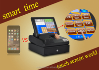"""12"""" touch screen plastic pos system equipment with touch screen , software"""