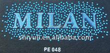 MILAN custom epoxy resin rhinestone heat transfer motif design
