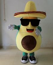 custom make adult avocado mascot costume