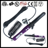 Lcd display dual voltage auto rolling brush with removable comb