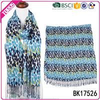 TOROS Customize beautiful lady print tassel viscose scarf rayon shawl