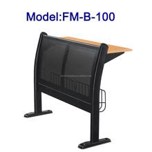 No.FM-B-100 Metal frame school desk and chair