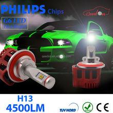 Qeedon economical led headlight bulb 9007 motorcycle h7 chip set phillip s